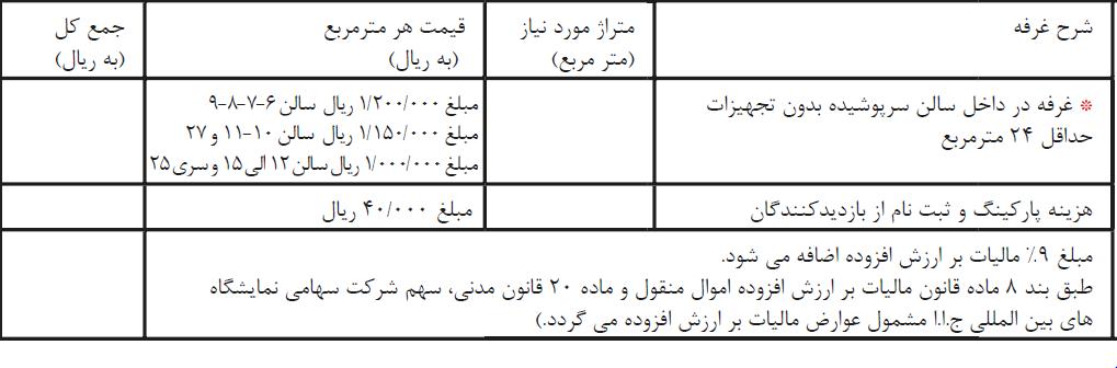 نمایشگاه کاشی سرامیک تهران 98