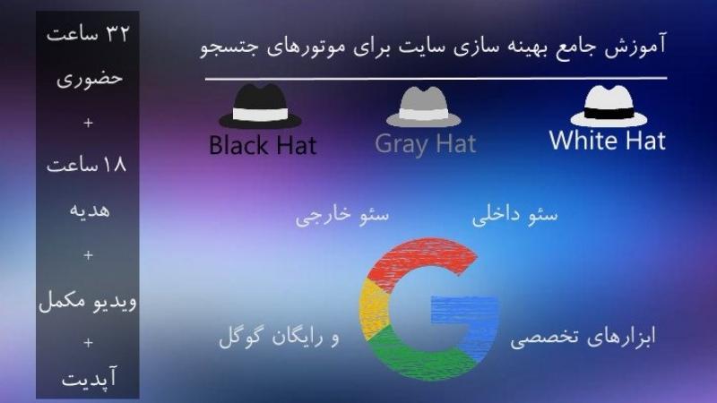 آموزش جامع سئو افزایش رتبه سایت در موتورهای جستجو تهران 96