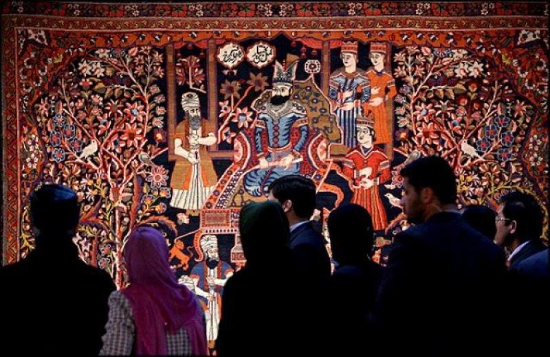نمایشگاه فرش صفوی موزه فرش تهران 96