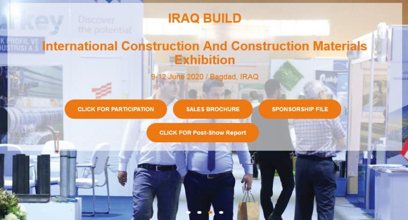 نمایشگاه ساختمان IRAGH BUILD بغداد عراق 2020
